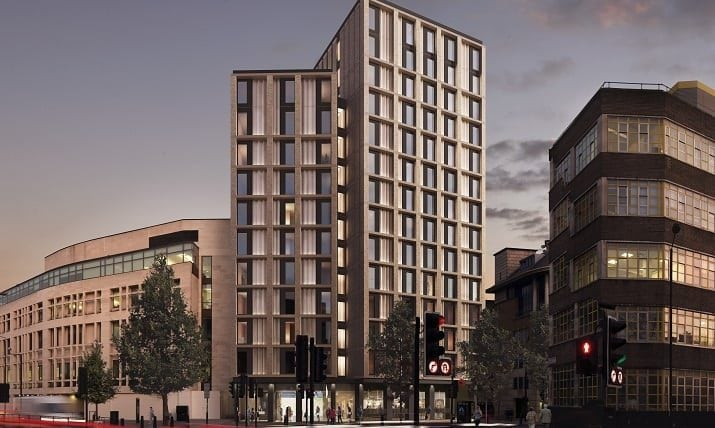 Concept of new build Premier Inn Marylebone